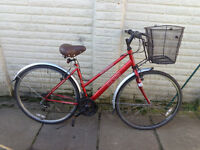 ladies apollo hybrid bike, basket, new lights, d-lock ready to ride free delivery