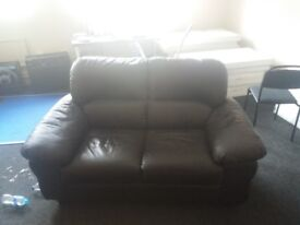Sofa (black) Leather style 2 seater