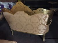New French carved gold sofas for sale