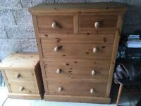 Chest & Bed Side Draws - Solid Wood!