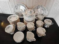 Royal Albert Silver Maple Tea Service