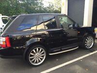 """Range Rover, metallic black with 22"""" alloys"""