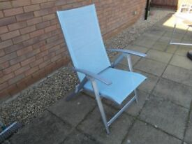 Patio Set Table x 6 Reclining Chairs
