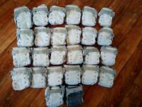 Large bundle of cloth washable reusable nappies close pop in bum genius tots bots