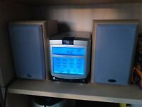 Emmerson touch screen mini stereo system with Eltax speakers