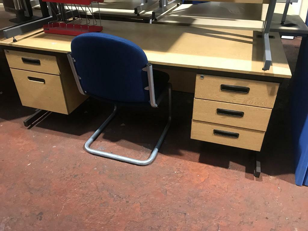 Double Draw Unit - Straight Desk 1800mm