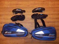 Oxford saddle bags/side panniers + rain cover + straps