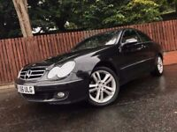 MERCEDES BENZ CLK 220 CDI, 1 YEAR MOT, AUTOMATIC COUPE