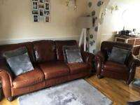 3 seater and chair, chair hardly been sat on