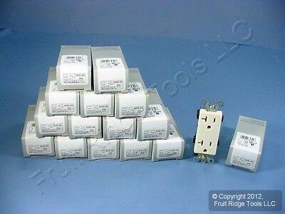 15 Leviton Almond COMMERCIAL Decora Receptacle Duplex Outlets 5-20R 20A 16352-A
