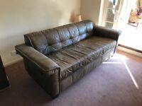 Shabby Chic Leather Sofa