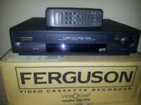 Boxed ferguson video player with remote