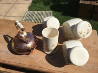 M&s Harvest storage jars & copper kettle