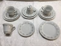 4 Matching Trio Tea Cups, Saucers & Side Plates