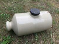 Stoneware bed warmer / hot water bottle