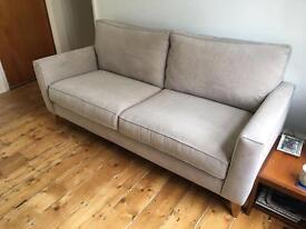 Scandi Style Grey 4 Seater Sofa