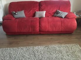 COMFY RED 4 SEATER SOFA