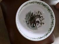 Portmeirion large bowl birds of britain collection number 22