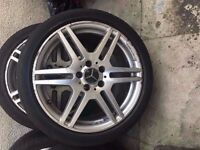 Mercedes Amg Genuine 18'' Alloy Wheel 1 Wheel Can Post