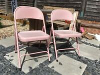 Foldable garden chairs x 2