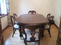 Dining Table with 8 chairs (Extendable)
