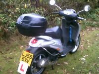 piaggio liberty 125 moped with fullservice history