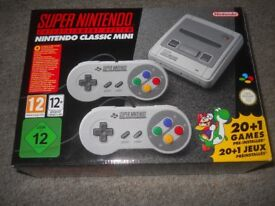 Super nintendo mini classic entertainment system classic 21 games £100 ono OFFERS WELCOME