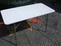 Vango 'birch' folding camping caravaning table colour white