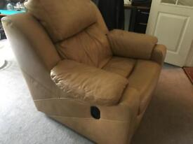 Armchair - leather, expensive brand, reclining