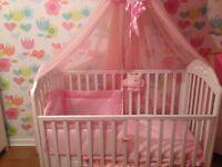 Beautiful princess cot