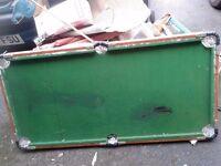 ELC pool/snooker table 4'x2' needs new felt