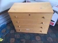 Chest of draws sold wood free to collect