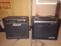 2 guitar amps for sale £100 for pair ONO