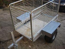garden trailer galvanized ready to use on farms ,garden or etc