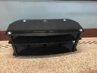 Sona AVCR50/3BLK Black Glass TV Stand