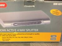 Lab Gear HDMI Active 4 Way Splitter