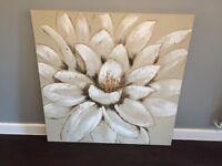 Large flower canvas