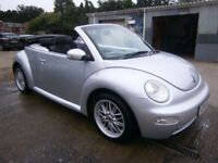 ** NEWTON CARS ** 05 54 VW BEETLE 2.0 CABRIOLET, GOOD OVERALL, S/H, FULL MOT SUPPLIED, P/EX POSS