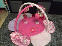 Pink flower play mat