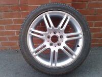 Mercedes 17 inch 7 Twin Spoke Alloy Wheel and Tyre.