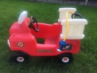 Little Tikes Ride On & Hose Fire Engine