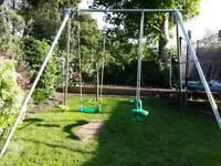 Teepee double swing set
