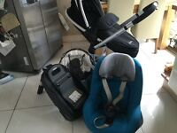 Silver cross surf pushchair complete with all attachments