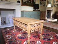 coffee table solid wood carved gothic style