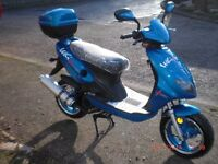 £727.00 but a couple of marks so??? Fantastic value 125cc T&G scooter plus extras included