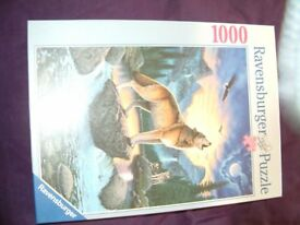 Call of the Wolf by Ravensburger 1000 piece, This in perfect condition,