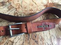 Men's Brown leather Diesel belt