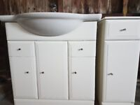Bathriom Cabinet, side cabinet and mirror
