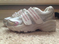M&S adorable pink and white toddler trainers size 5 RRP £18.00