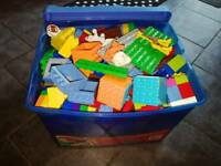 Duplo Lego excellent condition Inc cars, trucks, plane, people and large base mat